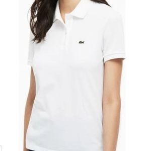 Lacoste white polo 2 button size 44